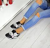 Дерзкие женские кожаные кроссовки F-Light (серебро), фото 2