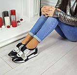 Дерзкие женские кожаные кроссовки F-Light (серебро), фото 5