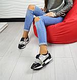 Дерзкие женские кожаные кроссовки F-Light (серебро), фото 7
