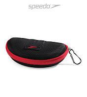 Плотный чехол-футляр для очков Speedo Goggle Case (Black/Red), фото 1