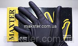 Нитриловые перчатки черные Maxter Premium