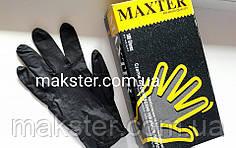 Нитриловые перчатки черные Maxter Premium, фото 2