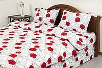 Постельное белье Lotus Ranforce - Carmen V1 красное евро