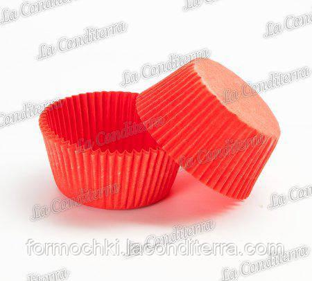 Пергаментні форми для кексів червоні 5 (Ø40, бортик – 21 мм), 2000 шт.