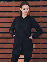 Женская куртка длинная весенняя Staff long black d7b39770ca5e8