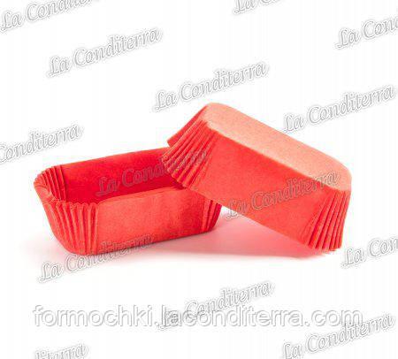 Паперові форми для еклерів червоні Р-8 (80х35 мм, висота - 30 мм), 2000 шт.