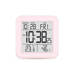 Цифровий термогігрометр (рожевий пластик )
