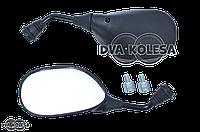 """Зеркала  Active 110  M10  овальные, черные, с фиксатором  +переходник M8  """"LIPAI"""""""