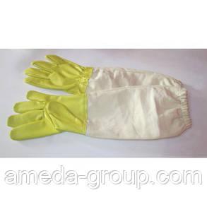 Рукавицы пасечные кожаные, фото 2