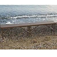 Складная скамейка «RZB-18310» коричневый ротанг