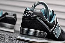 "Кроссовки New Balance 574 ""Black/Mint"", фото 3"