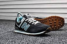 "Кроссовки New Balance 574 ""Black/Mint"", фото 2"