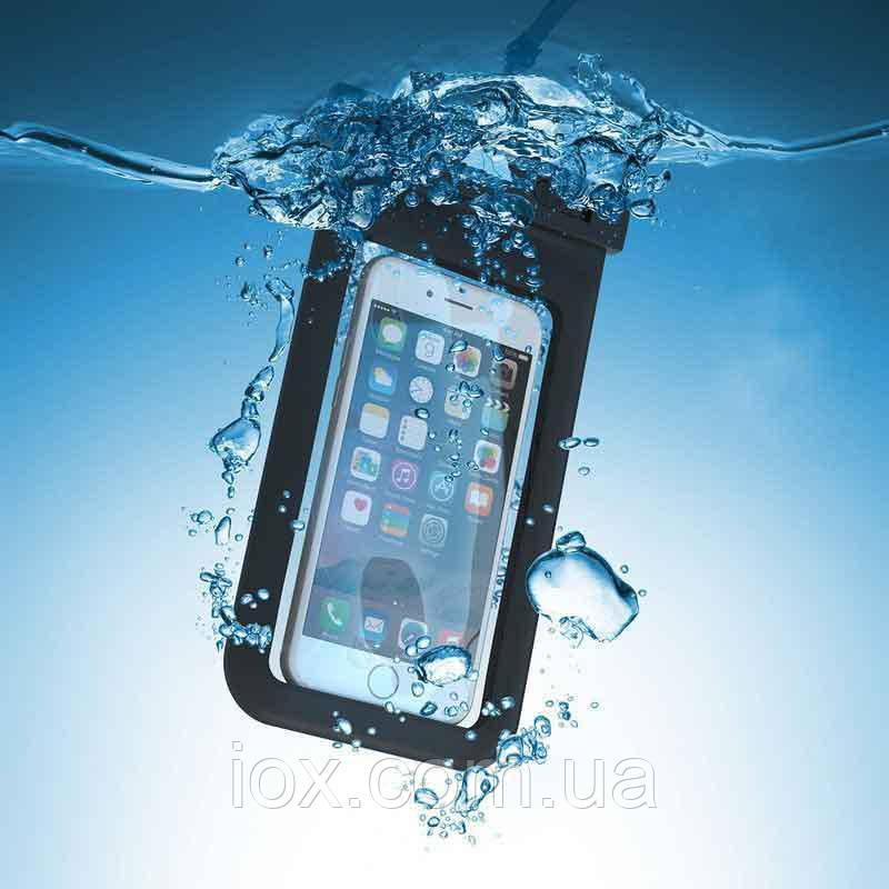 """Универсальный водонепроницаемый чехол с ремешком на руку для телефонов до 6.5"""""""
