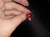 Кольцо кварц-гранат в серебре. Кольцо с кварц-гранатом. Размер 18. Индия!, фото 3