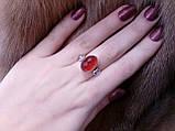 Кольцо кварц-гранат в серебре. Кольцо с кварц-гранатом. Размер 18. Индия!, фото 4