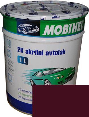"""Автокраска 180 Эмаль акриловая Helios Mobihel """"Гранат"""" 1л без отвердителя"""
