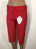 Шорты женские лен с люрексом 0026 красные
