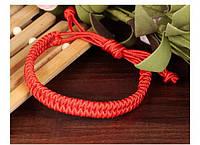 Широкий красный браслет