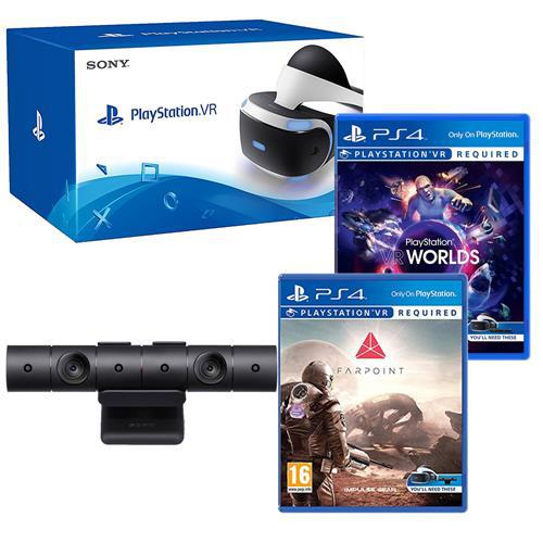 Шлем виртуальной реальности Sony PlayStation VR + PS Camera + Farpoint + VR Worlds