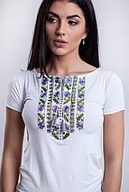 Гладь вышивка на футболках - Цветы, фото 3