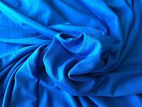 Трикотаж вискоза синий