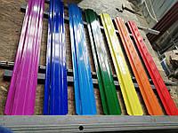 Штакетный профиль всех цветов радуги