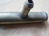 Соединитель Тройник 16х8х16мм шлангов металлический гладкий автомобильный для на авто, фото 2