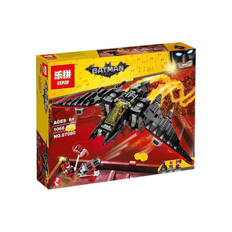 Конструктор Lepin 07080 Бетмен Batman Movie Бэтмолёт 1068 деталей