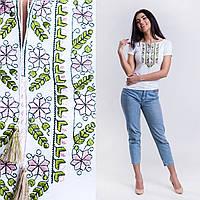 Вышиванки трикотажные женские - Цветы