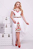 Сукня Фолькльор з французького трикотажу та шифону, фото 1