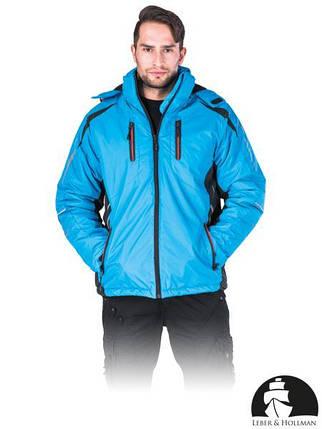 Куртка рабочая сигнальная утепленная синяя (спецодежда утепленная) Польша LH-LAGOON NB, фото 2