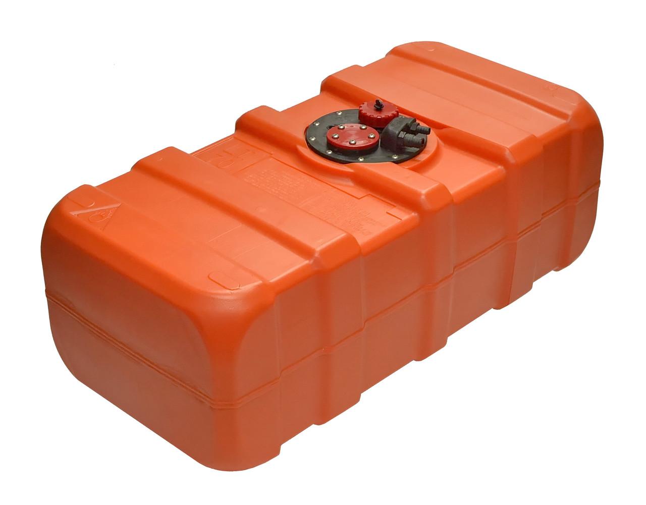 Топливный бак 33 литра  из полиэтилена Eltex 35х50хH26см для лодки, катера, яхты