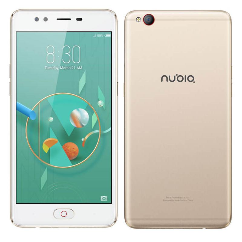 """Смартфон ZTE Nubia M2 Lite 3/64Gb, Gold, 8 ядер, 16/13Мп, 5.5"""" IPS, 4G, 3000 мАч, MT6750"""