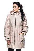 Женская куртка Луиза бежевый (52-64)