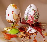 Яйцо Пасхальное Деревянная Заготовка для Росписи и Декупажа на Подставке