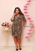 Платье женское батал 266 замш минова