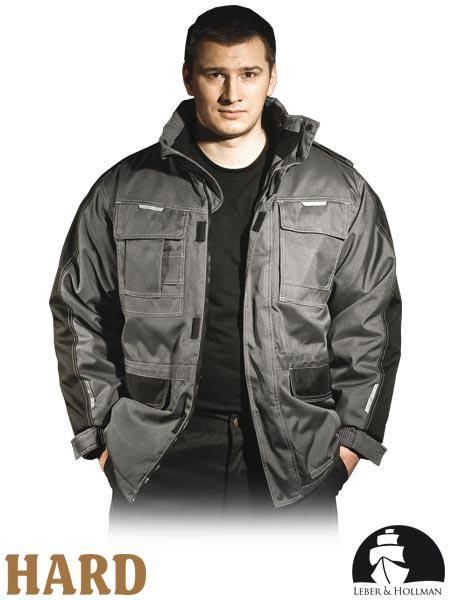 Куртка зимова робоча із сигнальними вставками Польща (утеплений спецодяг) LH-MAUER SB