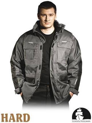 Куртка зимова робоча із сигнальними вставками Польща (утеплений спецодяг) LH-MAUER SB, фото 2