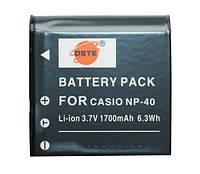 Аккумулятор для фотоаппарата Casio NP-40, 1700 mAh.