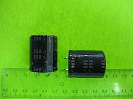 Конденсатор электролитический 560uF 200V 25x31mm Nichicon