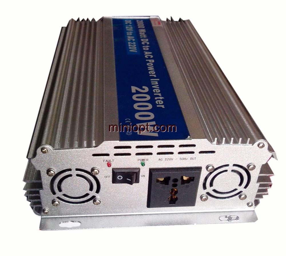 Автомобильный инвертор 12-220В DC. 2000W