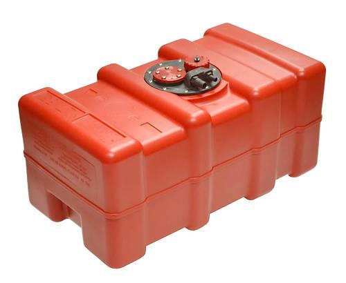 Топливный бак 55 литров из полиэтилена Eltex 35х65хH33см для лодки, катера, яхты