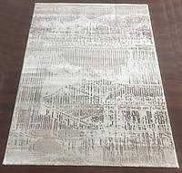 Белый прямоугольный ковер на пол