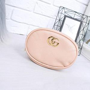 Женская сумка бананка Gu пудра 1026, сумка через плечо