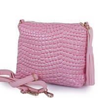 Женская мини сумка-клатч eterno etzg08-17-13 розовый кожзам