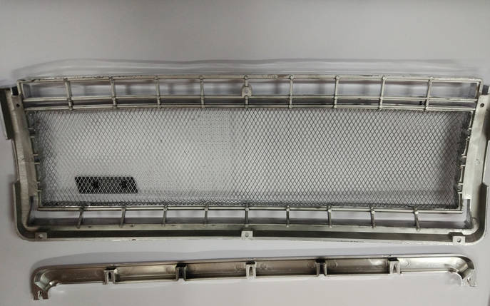 Решетка радиатора 2107 хромированная сетка, фото 2