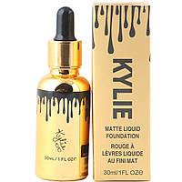 Тональный крем Kylie matte liquid foundation 30ml (Пал. 3 шт №100,101,102) Золотая пипетка 5036