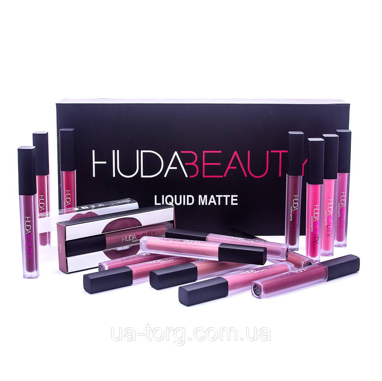 Набор матовых помад для губ Huda Beauty Liquid Matte Full Collection МЯТАЯ УПАКОВКА