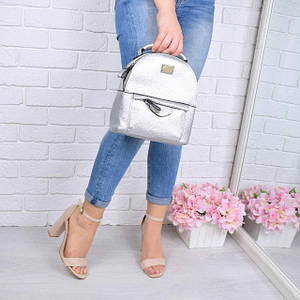 Рюкзак женский Brandy серебро 1031 , магазин рюкзаков