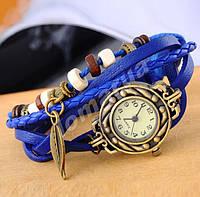 Женские часы плетеный ремешок  Blue
